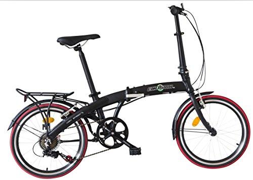 Ecosmo 20AF09BL Citybike / Fahrrad, 50,8cm, leicht,...
