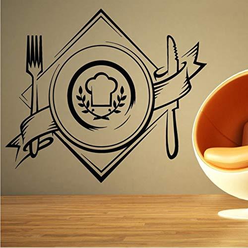 Platte Tapete Aufkleber Für Küche Hintergrund Vinyl Wandtattoos Restaurant Tapete Kunst Dekoration Wandbilder 57 * 66 Cm ()