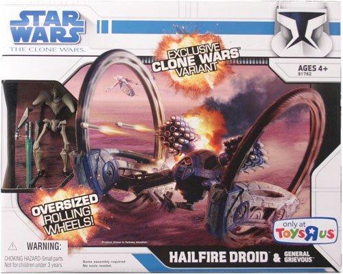 Star Wars Clone Wars Exklusive Variante Hailfire Droid mit General Grievous