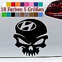 Generic Hyundai Aufkleber Totenschädel i20 ix20 i30 i40 Kona Auto Car 18 Farben 5 Größen