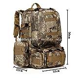 Wocharm (TM) 50L Military Rucksacks Backpacks Camping Hiking Trekking Bags Sports&Outdoors UK (Green python pattern)