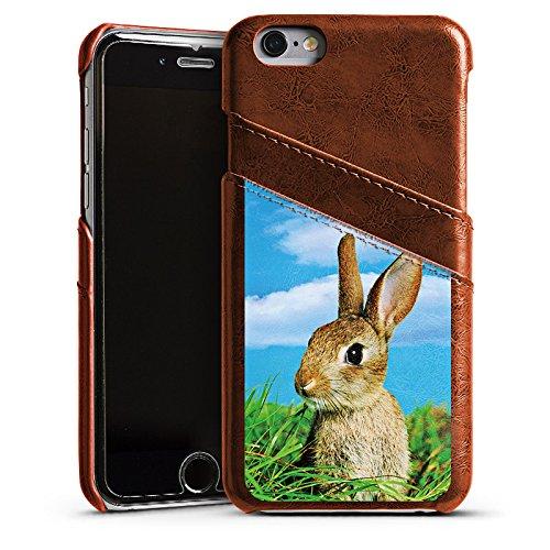 Apple iPhone 5 Housse étui coque protection Lapin Lapin Lapin Étui en cuir marron