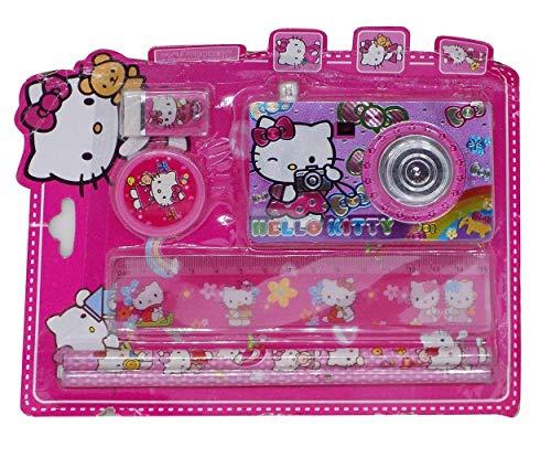 Prime Special Design Camera Stationary Kit, Pencils with Eraser & Camera Stationery Kit for Kids, 20 Grams, Multicolor, Pack of 1