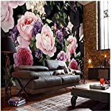 Aufkleber Wandaufkleber Hintergrundbildcustom Photo Wallpaper European Fashion Floral Wallpaper Personality Living Room Tv Backdrop Wallpaper Custom Mural,300 * 210Cm