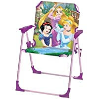 Kids Garden Chair Comfortable With A Safety Lock and Suitable For Both Indoors and Outdoors/Children Garden Decor/Children Flashy Chair With Cartoon Character Designs (Disney princess)