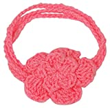 Love Crochet Art Bandas de lana de niño de ganchillo de ganchillo de la venda de la niña del bebé