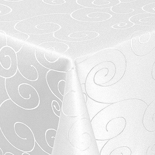 Tovaglia damascata, dimensioni fabbricazione ornamento, Bianco, angolare,