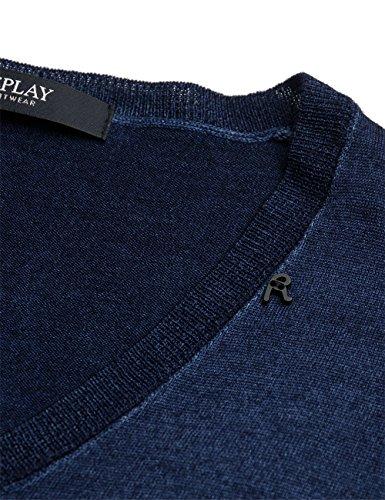Replay Herren Pullover Blau (INDIGO 487)