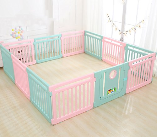 Baby Laufstall Kids Activity Center Sicherheit Spiel Hof Home Indoor Outdoor Neuer Stift (Multicolor, Classic Set 12 Panel) Baby Cage Baby...