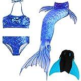 Das beste Mädchen Bikini Badeanzüge Schönere Meerjungfrauenschwanz Zum Schwimmen mit Meerjungfrau Flosse Schwimmen Kostüm Schwanzflosse - Ein Mädchentraum- Gr. 140, Farbe: A05