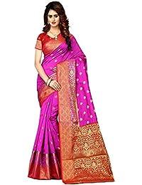 Greenvilla Designs Pink And Red Banarasi Silk Wedding Saree
