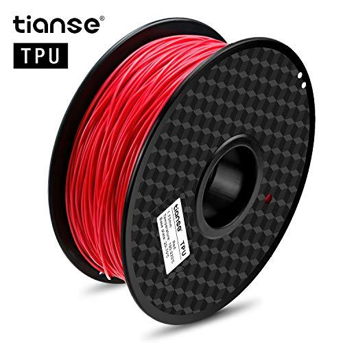 TIANSE Filamento de TPU para la Impresora 3D/Pluma 3D, 1 kg 1,75 mm (Luz roja)
