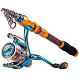 Fishaneoosg Teleskop Kohlefaser Angelrute Sets 14BB Spinning Reel Angelrute Combo Angeln Trackle Cana De Pesca Burgundy