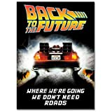 LaMAGLIERIA Hochqualitatives Poster - Back to The Future Delorean Back - Posterdruck glänzend laminiert im Großformat, 50cmx70cm