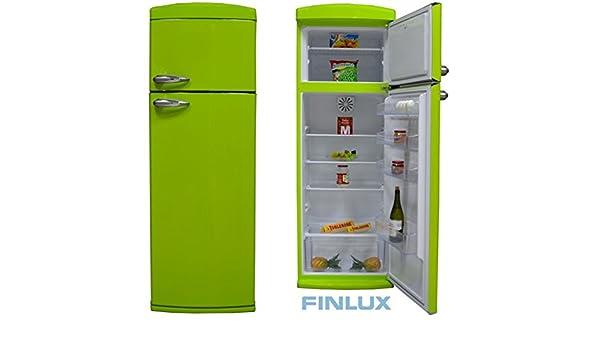 Retro Kühlschrank Zweitürig : Finlux a kombi kÜhl gefrierkombination kÜhlschrank retro style