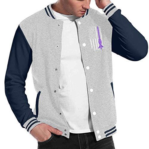 Patrick R Garrett Mode Unisex Baseballuniform Jacke Sport Mantel Alzheimer Cancer Awareness USA Flagge Herren Damen Erwachsenen Sweatshirt Outwear Lined Hooded Full Zip Sweatshirt