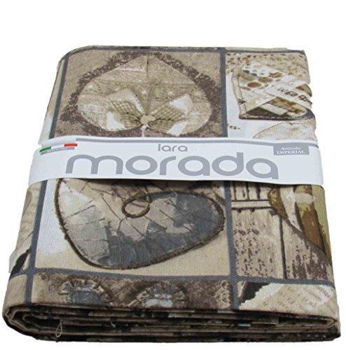 Telo arredo gran foular copritutto in tessuto loneta art imperial disegno shabby (naturale)