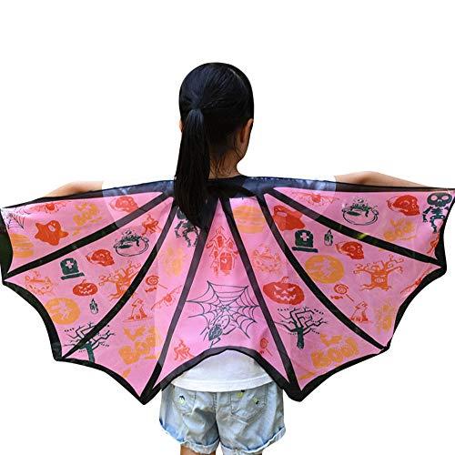 Ansenesna Halloween Kostüm Kinder Mädchen Jungen Fledermaus Wings Shawl Schals Poncho Kostüm Accessoire (Rosa) (Fledermaus Rosa Kostüm Mädchen)