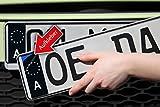 Nummernschild Kennzeichen Aufkleber Österreich at EU Feld in schwarz überkleben - Im Moment der Trend in der Tuning Szene