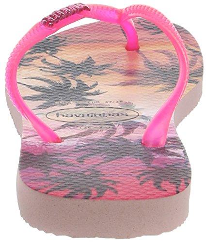 Havaianas Slim Paisage, Tongs Femme Multicolore (Pearl Pink 6615)