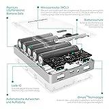 RAVPower 16750mAh 4,5A Ausgang Powerbank iSmart Externer Akku Pack USB Ladegerät für iPhone, iPad, Samsung, HTC, Huawei, Sony, LG weitere Smartphones und Tablet, Schwarz