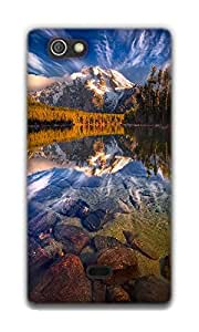 The Racoon Lean NATURE hard plastic printed back case / cover for Sony Xperia Miro