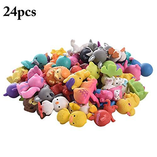 Joyibay 24PCS Osterei Füller Mini Lebensechte Tier Mix Figuren Spielzeug (Zufällige Farbe) -