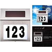 150/x 215/mm color antracita RAL7016 de acero inoxidable todos los n/úmeros N/úmero de casa de Metzler-Trade