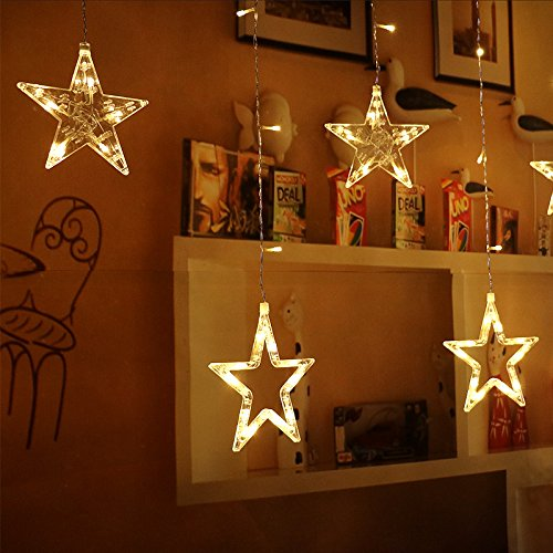 Buy Amzdeal Star Curtain Lights 2m From GBP2000
