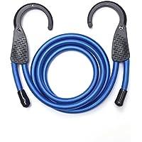 """48 """"azul/negro ajustable pulpos elásticos con ganchos Extra amplia apertura de acero"""