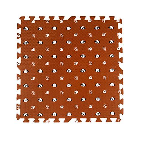 9 Stück Nette Hunde Gedruckte Ineinander greifende Fußmatten Puzzle Spielmatte für Baby Kinderzimmer, # 05 (Ineinander Greifende Schaum)
