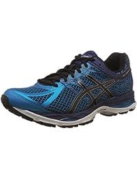 Asics Men'S Gel-Cumulus 17 Island Blue, Black and Indigo Blue Running Shoes - 10 UK/India (45 EU) (11 US)