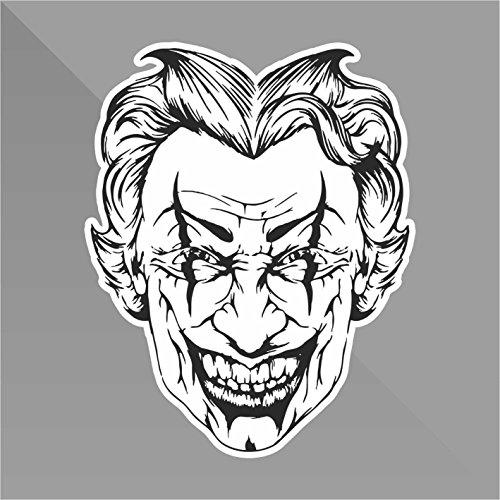 Sticker Joker - Decal Auto Moto Casco Wall Camper Bike Adesivo Adhesive Autocollant Pegatina Aufkleber - cm 22