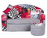 COCO-baby Kindersofa Schaumstoff Spielsofa mit Bettfunktion 3in1 Matratze Spieltisch Sofa Spielzeug ((3FR) Ferrari)