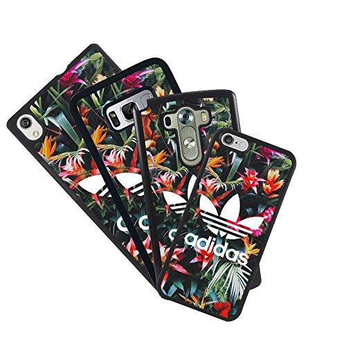 Housse coque de protection pour tous les mobiles propre photo design adidas avec des fleurs compatible con iPhone 5c