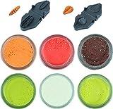 Troutbait in verschiedenen Farben mit Glitter Set inklusive 2 Teigformer, Teig Variationen:Alle Geschmäcker