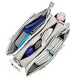 ZEDOR - Wickeltasche mit Kinderwagenbefestigung und passender Wickelunterlage | Babytasche mit Henkeln | Wasserabweisend (Grey Melange)