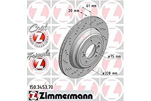 ZIMMERMANN 150.3453.70Disque de frein, arrière gauche, Coat Z, Formula Z