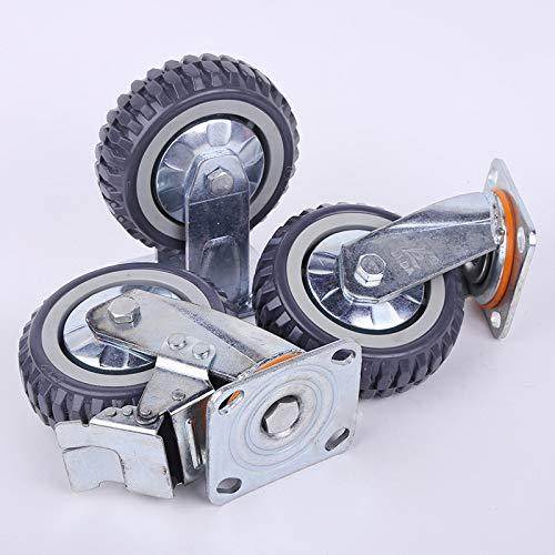 FJTHY Universal-Rad Schwere Laufkatze Caster Polyurethan Industrielle Ausrüstung Rad,Grau,XL -