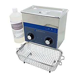 Mechanics 3 Litre Ultrasonic Cleaning Kit - Cleaner, Carburettor Cleaning Fluid, and Basket
