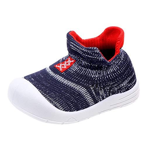 Splrit-MAN Babyschuhe Kinder Schuhe Kleinkind Jungen Mädchen Weiche Sohle rutschfeste Baumwolle Segeltuch Mesh Atmungsaktiv Slip-on Turnschuhe 0-3 Jahre Turnschuhe - Lace Mesh Wrap