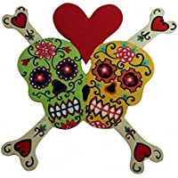 Floral Skull Bones Heart Green and Yellow preisvergleich bei billige-tabletten.eu