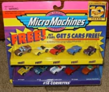 Micro Machines Corvettes #10 + 5 Bonus Cars Collection