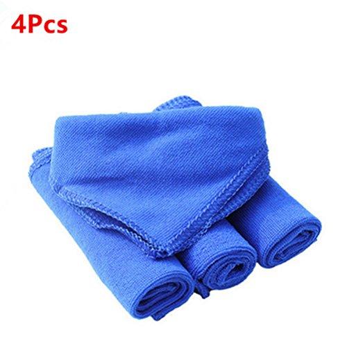 Aiuin panni microfibra ideal pulire lucidare vostra auto-multiuso-asciugatura rapida-4pcs 30* 30cm blu