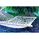 "TWOTREE HAMMOCKS® Cotton Rope Hammock for Home Garden Camping Single Person Use-36"" Wide x 11ft Long, 120 kgs"