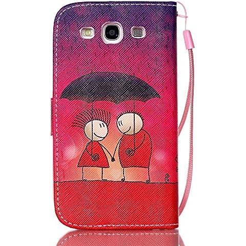 Leather Case Cover Custodia per Samsung Galaxy S3 i9300 ,Ecoway