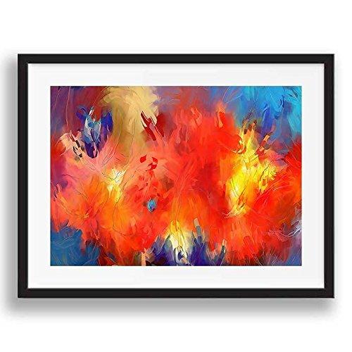 Box prints astratto colorato turbini retrò stile moderno contemporaneo poster art incorniciato stampa piccola grande immagine