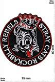 Parches - Stray Cats Rockabilly Rebels -Oldschool - Parche Termoadhesivos Bordado Apliques - Patch