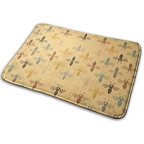 Nice-Guy Reich verzierte Bienen mit Gap Mat für Teppich Indoor Outdoor Haustür Badezimmer Matten Schlafzimmer Fußmatte