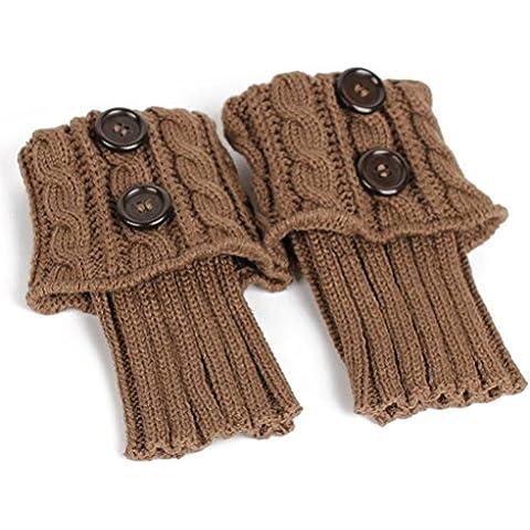 FENICAL Le donne per maglieria calze calzini gamba Boot copertura tengono calzini caldi (Khaki)